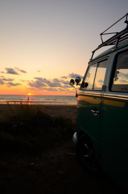 #VWsplitscreen in a #Cornish #sunset